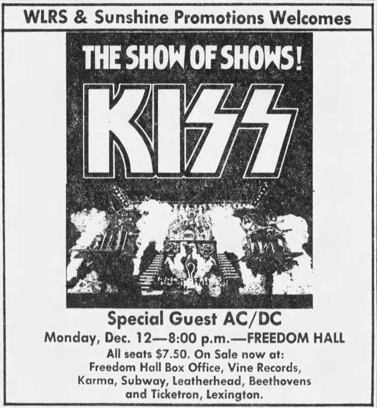 KISS December 12, 1977
