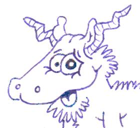 Goat drawing by Layla Dawn
