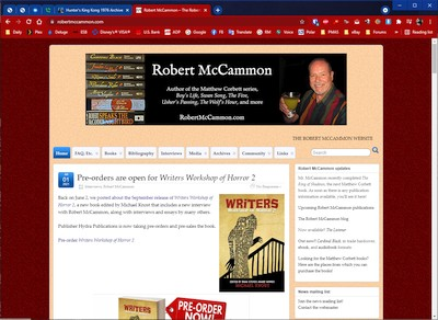 Site for author Robert McCammon