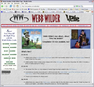 Hunter's site for musician Webb Wilder